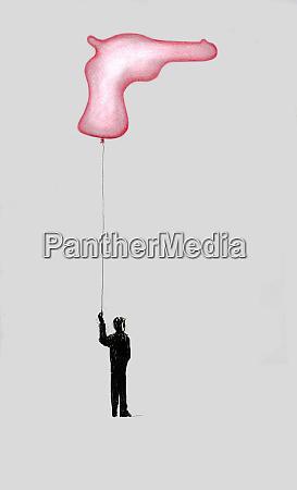 boter haelt saite von schussballon