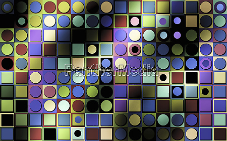 multicolored full frame abstract geometric pattern
