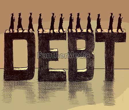 absolventen die ueber das wort schulden