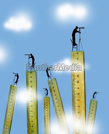 lots of men standing on top