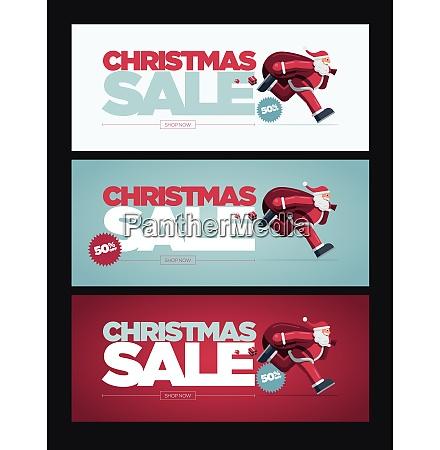 christmas sale concept design banner collection