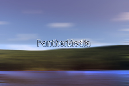 abstract blurred motion lake landscape
