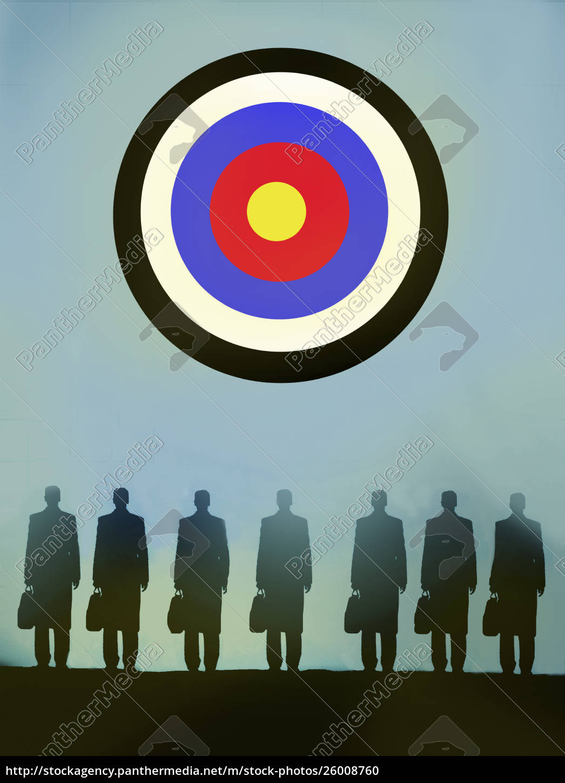 row, of, businessmen, standing, in, front - 26008760