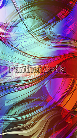 bright multicolor swirling abstract pattern
