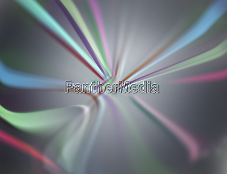 multicolored stripes in diminishing perspective abstract
