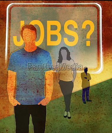 arbeitslose warten auf arbeit