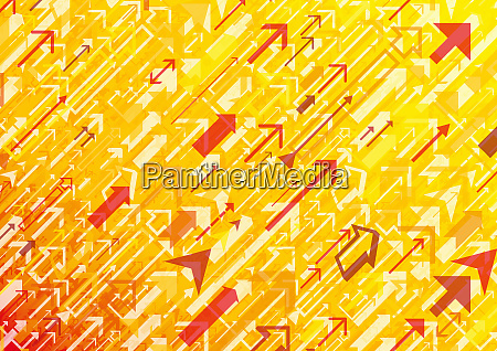 yellow and red abstract of arrows