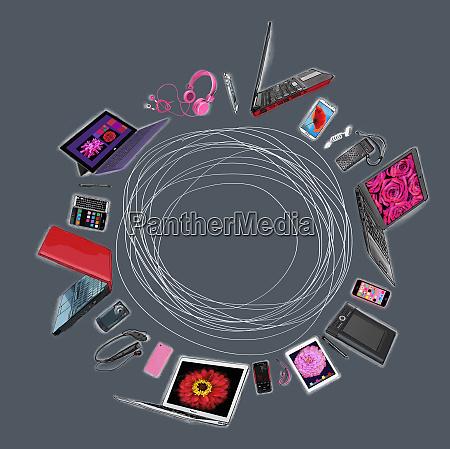 range of mobile hi tech communication
