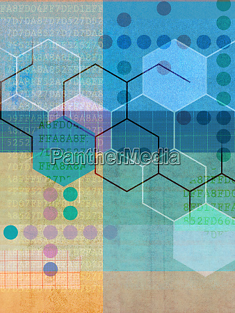 data graph paper and shapes in