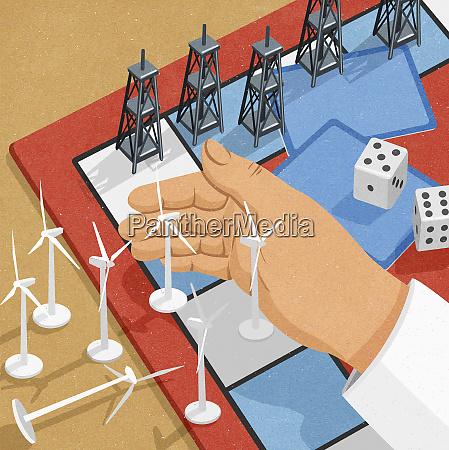 windkraftanlagen verlieren bei OElderricks im brettspiel