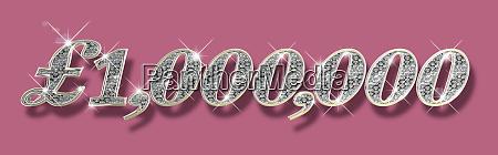 sparkling diamonds inside of one million