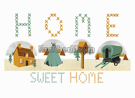 home sweet home cross stitch with