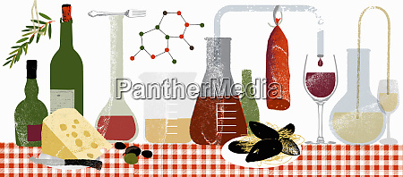 molecules and science experiments with food