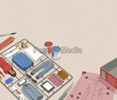 model assembly kit for successful businessman