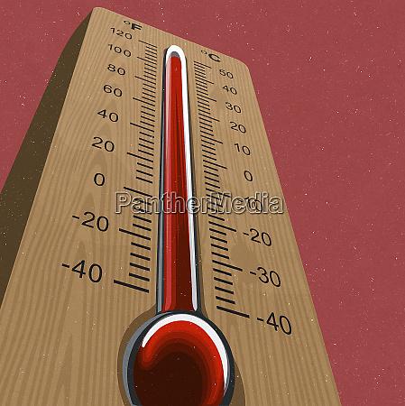 thermometer bei hoher temperatur