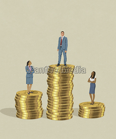 businessman and businesswoman and gender pay