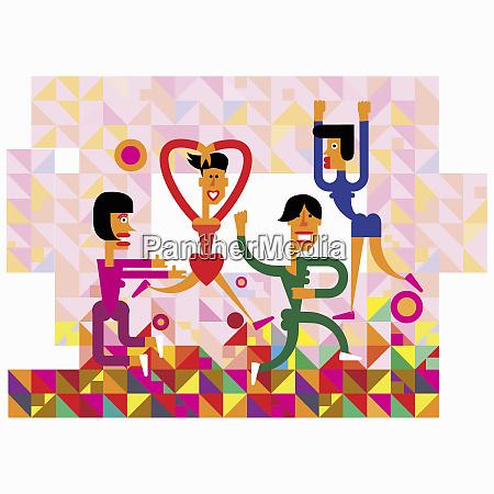 fun illustration of women dancing in