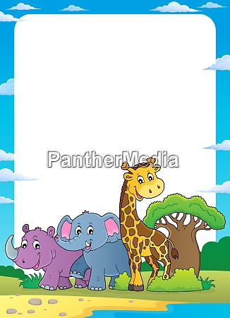 african nature theme frame 1