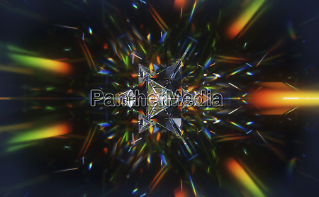 abstract pattern of multicolored light trails