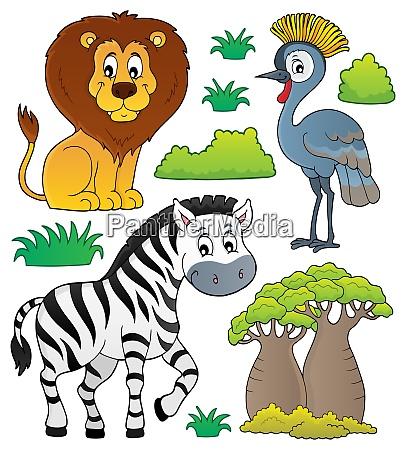 afrikanisches, naturthema, set, 3 - 26012520