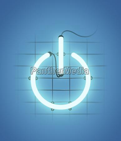 beleuchteter power knopf