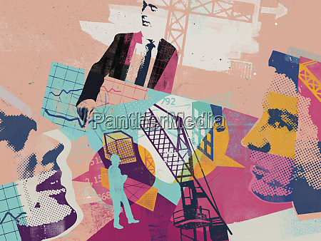 planning and construction industry collage