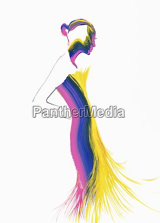fashion illustration of woman wearing tight