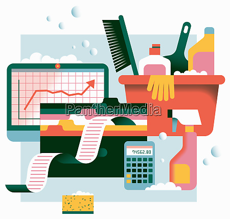cleaning up business accounts