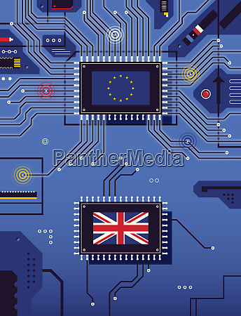 british flag disconnected from european union