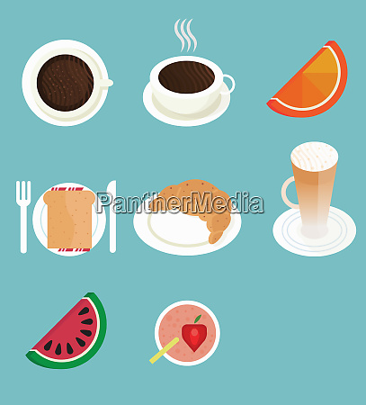 breakfast food and drink in a