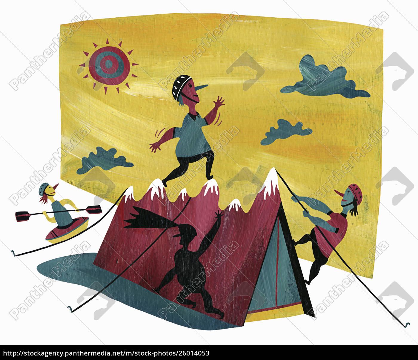 menschen, die, verschiedene, outdoor-aktivitäten, genießen - 26014053