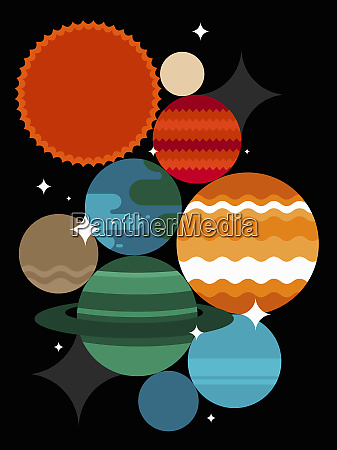 abstract planet pattern