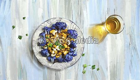 lila, blumenkohl, und, cashew, nuss, curry - 26015854