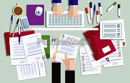 UEberblick ueber personalabteilung die ueber bewerbungsformulare