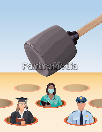 graduate doctor and police officer in