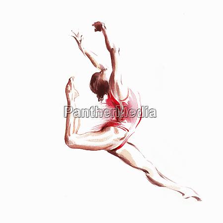 ballet dancer leaping
