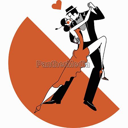 couple dancing the tango