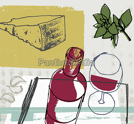 rotwein parmesanschse knoblauch und kraeuter
