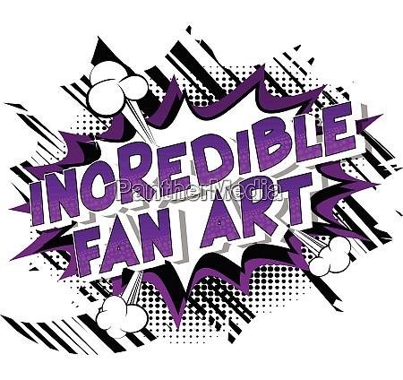 incredible fan art vector illustrated