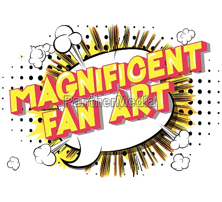 magnificent fan art vector illustrated