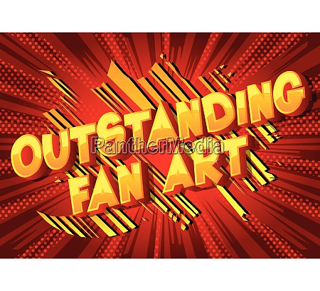 outstanding fan art vector illustrated