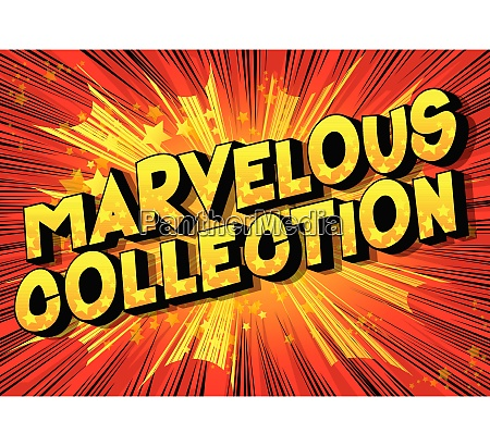 marvelous collection comic book style words