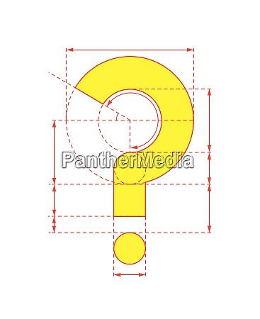 gelbes, fragezeichen, auf, faltbarem, papier - 26028156