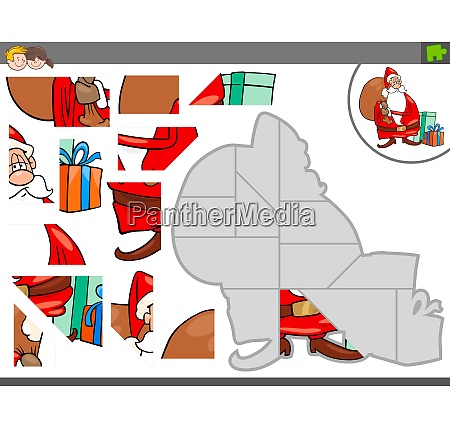 jigsaw puzzle game with christmas santa