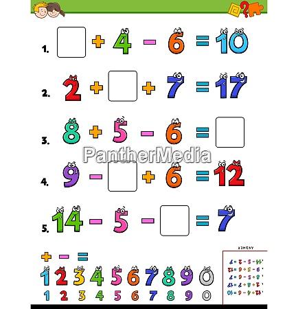 mathematische berechnung paedagogische aufgabe fuer kinder
