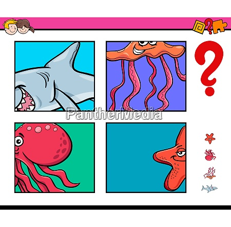 activity game with sea life animals