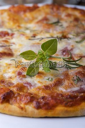 rustic home made mushroom pizza