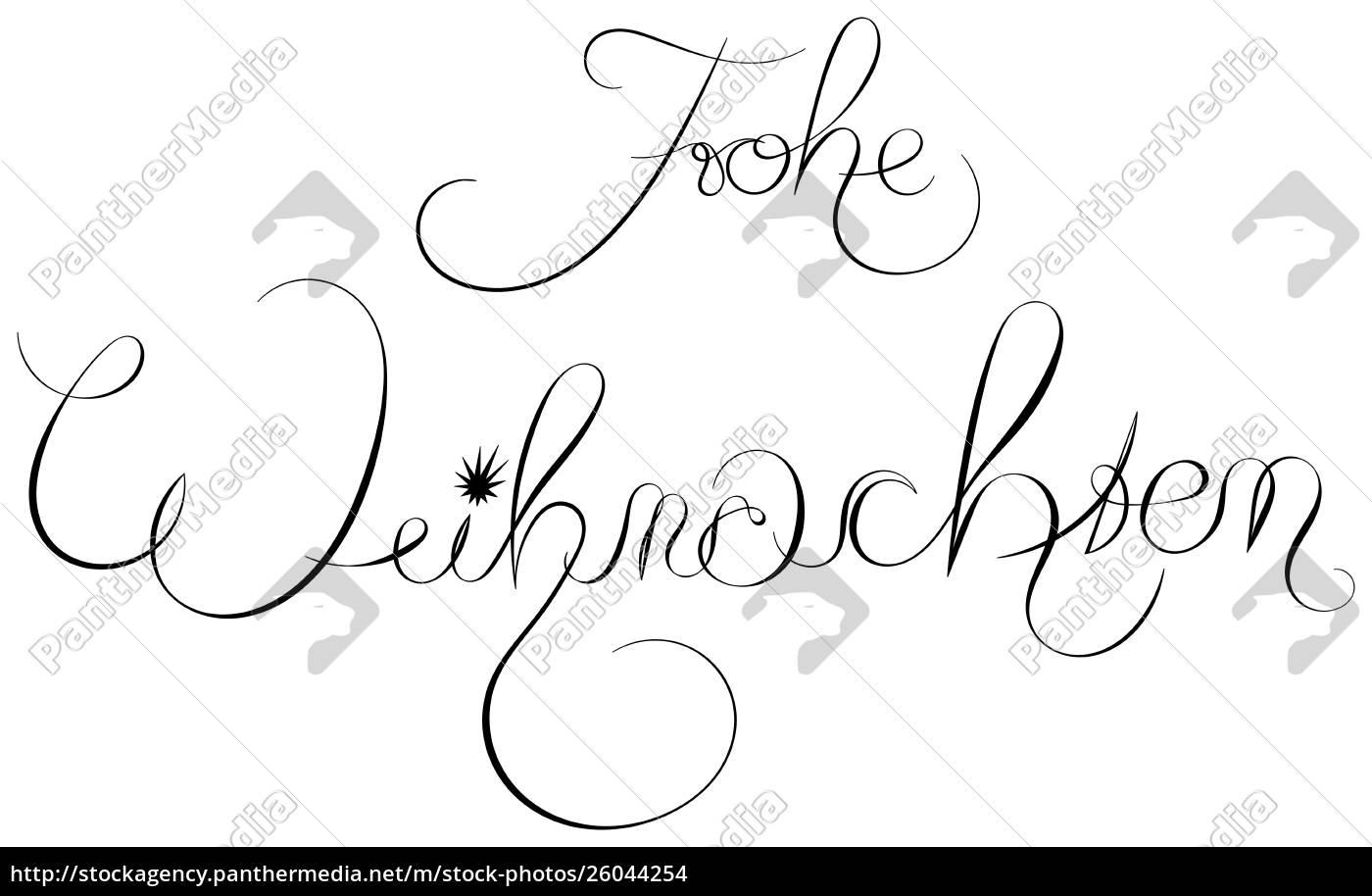 Stockfoto 26044254 Frohe Weihnachten Frohe Weihnachten Auf Deutsch
