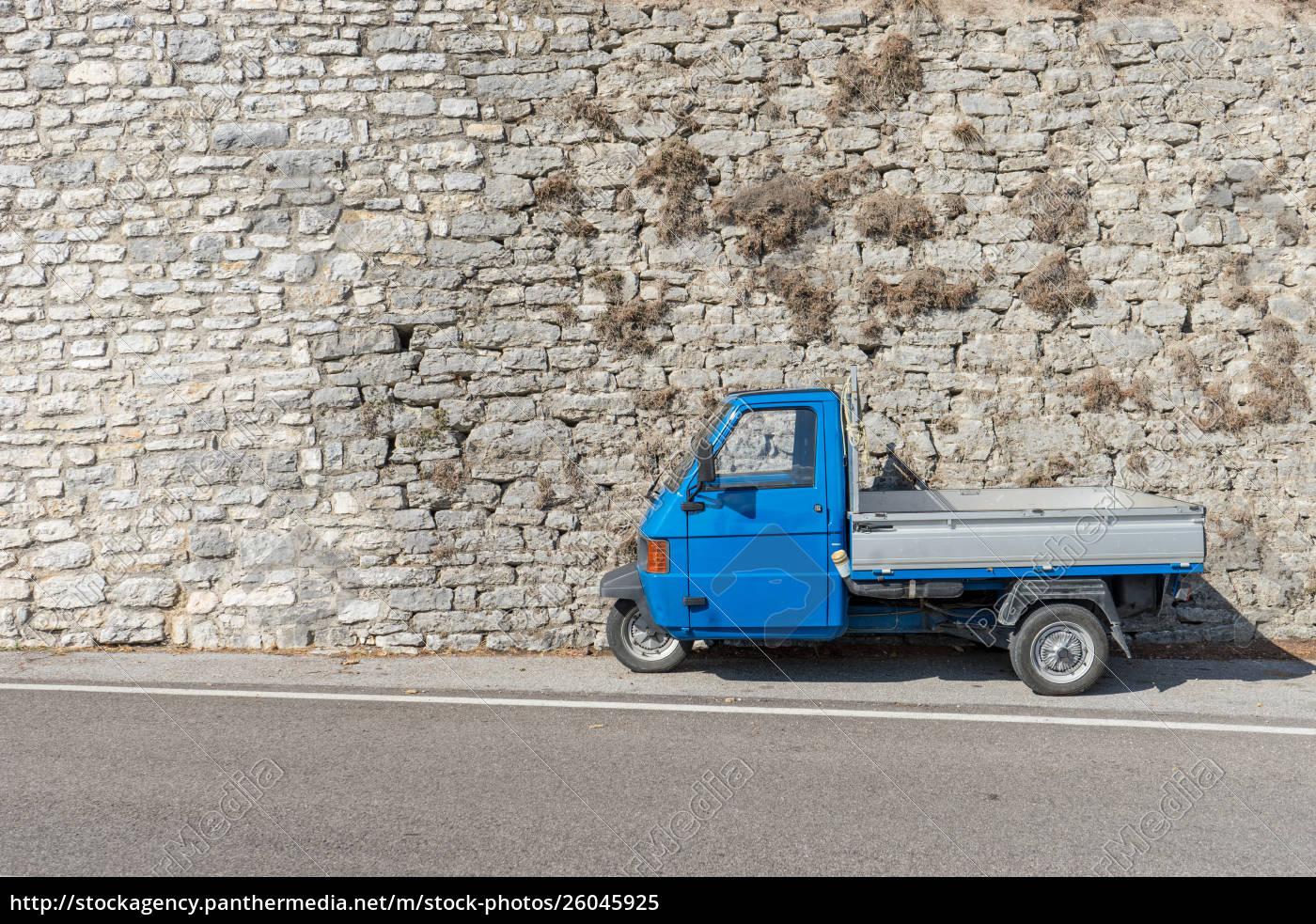 blau, kleintransportfahrzeug - 26045925