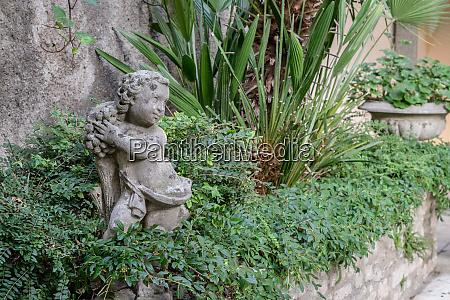 skulptur, im, garten - 26045921